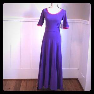 Lularoe Ana Dress Long Maxi Purple M New